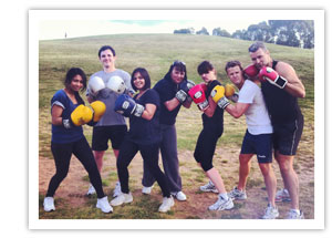 corporate fitness group with innervate